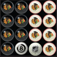 Chicago Blackhawks Pool Balls