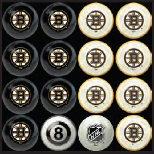 Boston Bruins Pool Balls