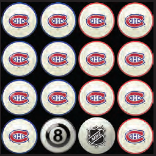 Montreal Canadiens Pool Balls