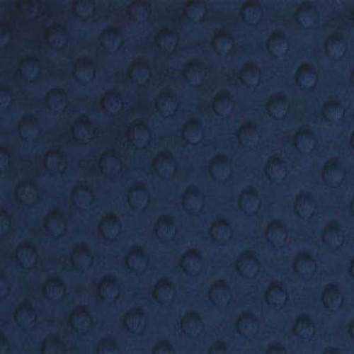 Navy Minky Dot - 1/2 yard