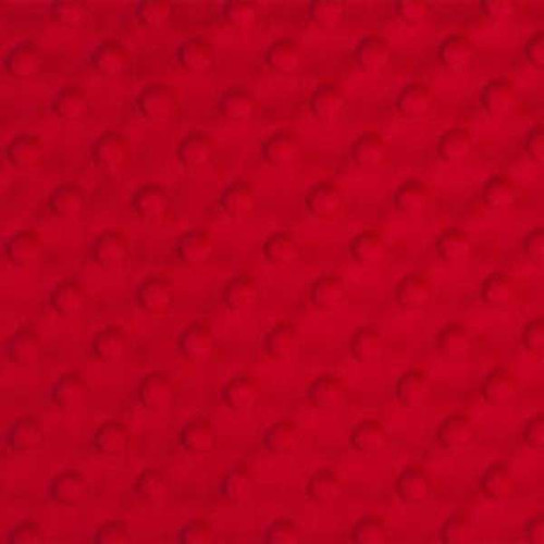 Red Minky Dot - 1/2 yard