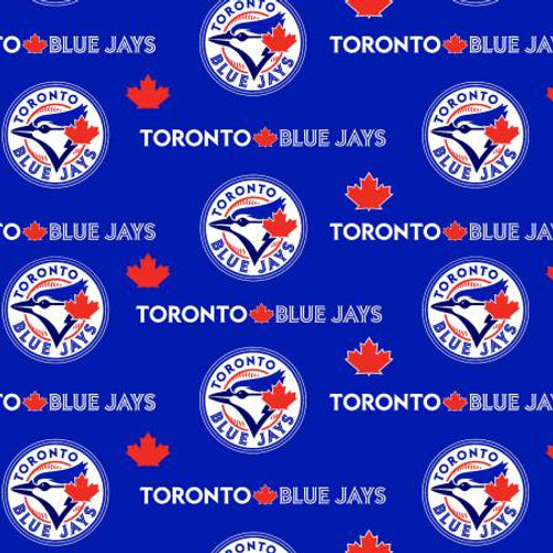 "Toronto Blue Jays 60"" Wide Cotton - 1/2 yard"