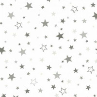 Pepper Stars on White Flannel - 1/2 yard