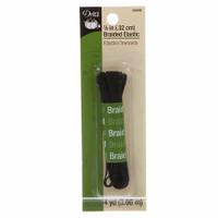 """1/8"""" Braided Elastic - Black 4 yd pack"""