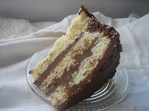 Yellow Butter Cake with Chocolate Fudge Frosting