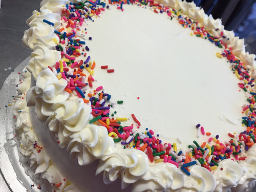 Vanilla Bean Cake with Vanilla Buttercream
