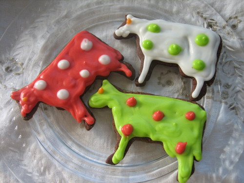 Brown Cow Chocolate Cookies