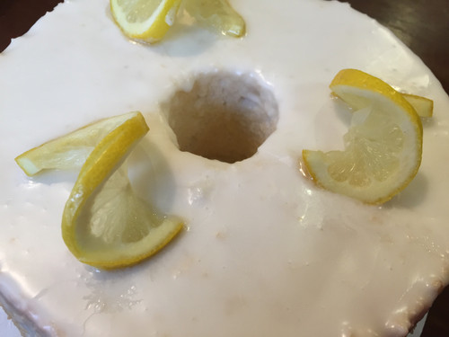 Angel Food Cake with Glaze