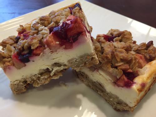 Cherry Greek Yogurt Morning Bars