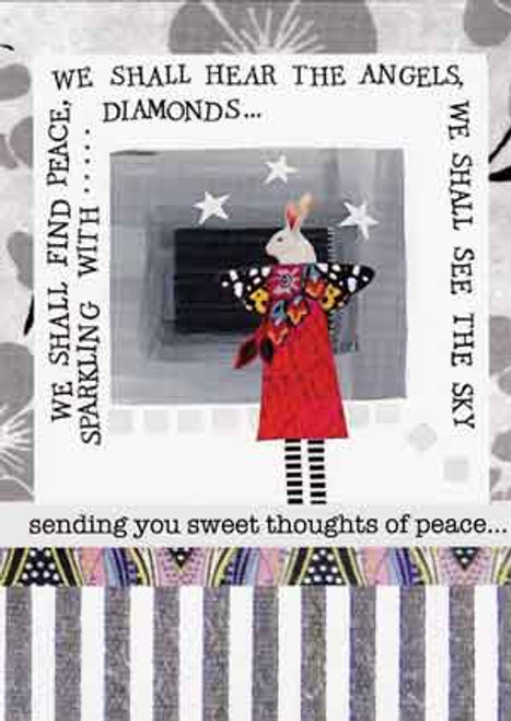 sweet thoughts of peace greeting card, blank inside