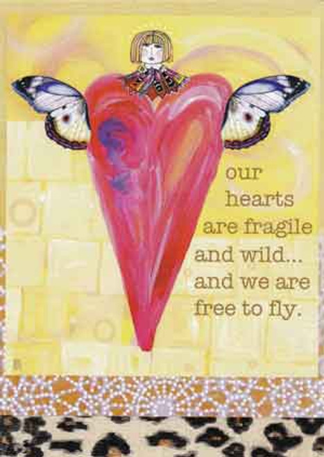 free to fly greeting card, blank inside
