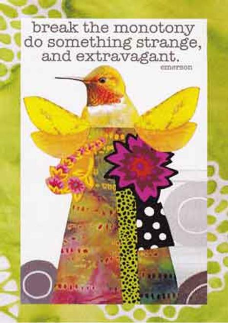 extravagant greeting card, blank inside