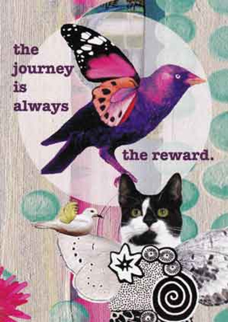journey is the reward greeting card, blank inside