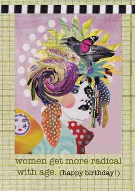 radical women greeting card, blank inside