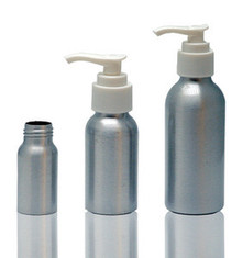 120 ml Aluminum Bottles W/Lotion Pump