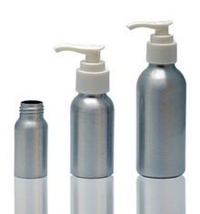 120 ml Aluminum Bottles W/Lotion Pump