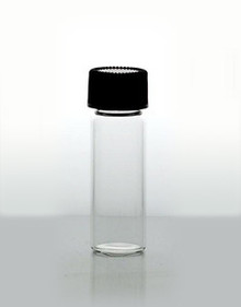 1.5 Dram (6ml) Clear Glass Vials with Foam Lined Caps.