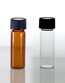 1 Dram Glass Vials With Foam Lined Caps