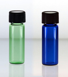 1 Dram Blue & Green Glass Vials