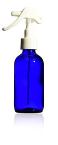 4 oz (120 ml) Cobalt Blue Bottle W/Mini Trigger Sprayer