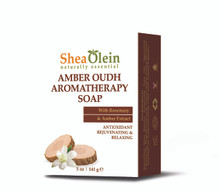 Amber Oudh Aromatherapy Soap w/Rosemary & Amber Extract