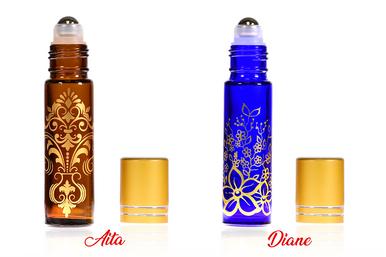 10 ml Decorative Roll on Bottles Metallic Caps