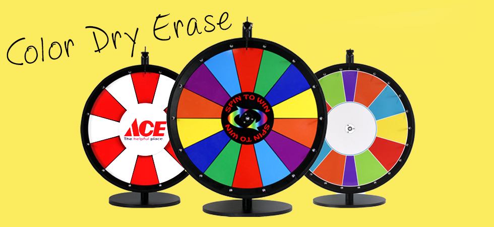 Dry Erase Prize Wheels