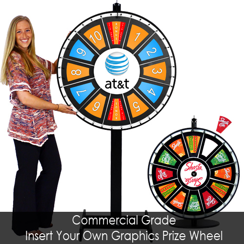 insert your own graphics prize wheels- prize wheel depot, Powerpoint templates