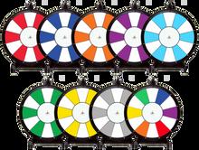 18 Inch 2 Color Dry Erase Prize Wheel