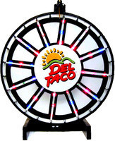 30 Inch Insert Your Own Graphics Lighted Prize Wheel with Blinking LEDs