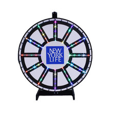 36 Inch Insert Your Own Graphics Lighted Prize Wheel with Blinking LEDs