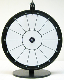 18 Inch White Dry Erase Prize Wheel with 14 Sections