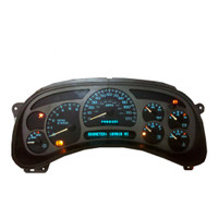 Repair Service for 2003-2006 GMC Denali Instrument Cluster. This Repair Service Covers Faulty Gauges ,Back Lights and Display Lighting, We replace with new, All Highest Quality Gauge Stepper Motors & Incandescent Bulbs (All Replaced)  LIFETIME WARRANTY