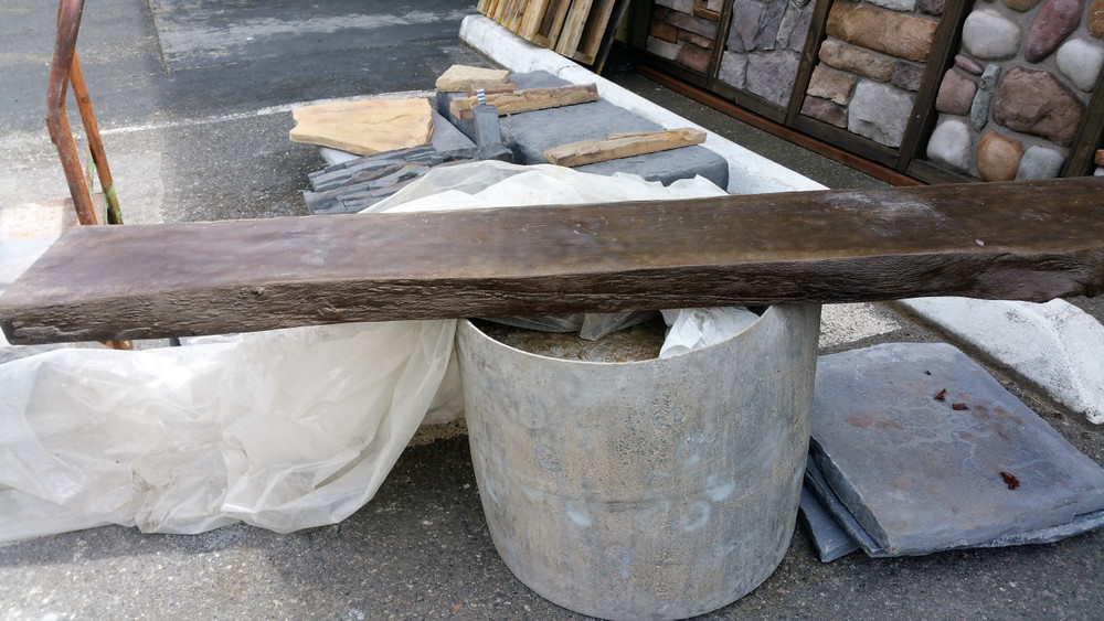 Aci Lightweight Concrete : Live edge mantel concrete posts superior stone mfg