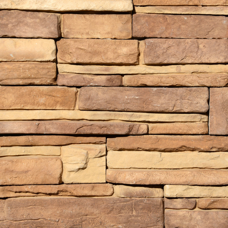 Photo of Cascade Quick Fit Stone Veneer Panel samples from Superior Stone MFG. This is a panelized product that is easy to install.