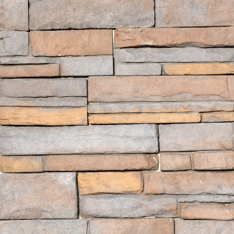 Photo of Summit Colorway Quick Fit Stone Veneer Panel samples from Superior Stone MFG