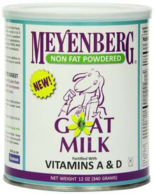 Powdered, Non Fat, 12 of 12 OZ, Meyenberg