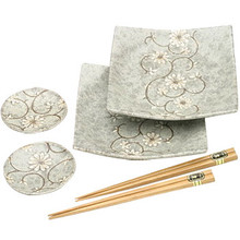 Sushi Set - Japanese Grey Blossom  From Kotobuki