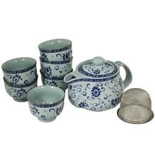 Blue Vine Tea Set  From B&T Trading