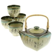 Tea Set - Umemoji Spring Poem  From Kotobuki