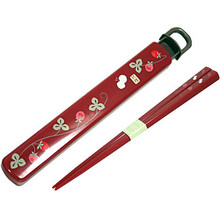 Red Blossom Chopstick & Case  From Ditto