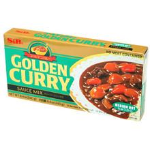 Golden Curry Medium Hot 8.4 Oz  From S&B