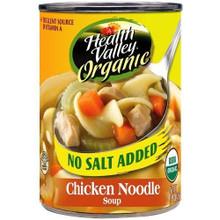 Chicken Noodle, No Salt Added, 12 of 14.5 OZ, Health Valley