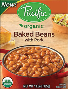 Baked w/Pork, 12 of 13.6 OZ, Pacific Natural Foods