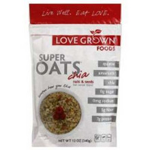 Cereal, Super Oats, Nuts & Seeds, 6 of 12 OZ, Love Grown Foods