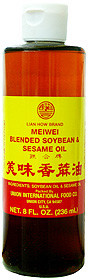 Meiwei Blended Soybean & Sesame Oil 8 fl oz  From Uncle Chen