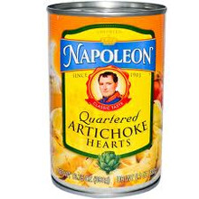 Artichoke, Hearts, Quartered, 12 of 13.75 OZ, Napoleon Co.