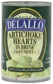 Artichoke Hearts, 6-8 Ct, 12 of 13.75 OZ, De Lallo