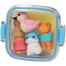 Animal Bento Box Erasers Blue  From Iwako