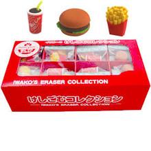 Hamburger Eraser Set 60 Pieces  From Iwako